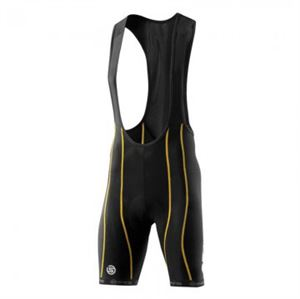 Picture of SKINS Mens Cycle Bib Shorts Black Yellow