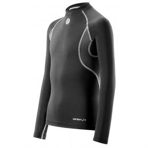 Picture of SKINS Youth Carbonyte Thermal Long Sleeve Top Black