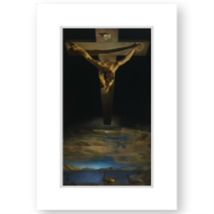 Picture of Dali Christ of St John of the Cross Large Mounted Print