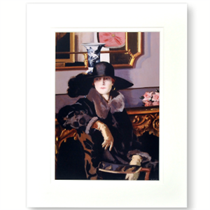 Picture of Lady in Black Medium Mounted Print
