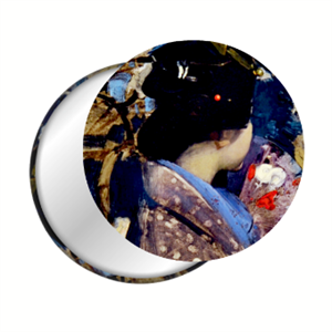 Picture of Japanese Lady Pocket Mirror