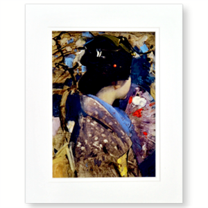 Picture of Japanese Lady Medium Mounted Print
