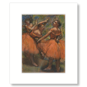 Picture of Red Ballet Skirts Mounted Print