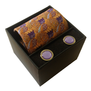 Picture of Charles Rennie Mackintosh Silk Tie and Cufflinks Set
