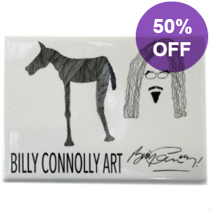 Picture of Billy Connolly High Horse with Self Portrait Magnet