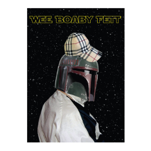 Picture of Wee Boaby Fett Greetings Card