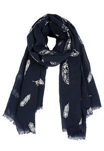 Picture of Ladies black feather scarf