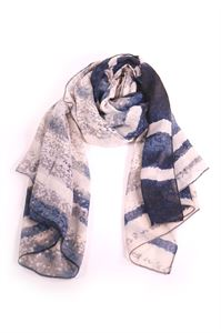 Picture of Ladies blue stripe scarf