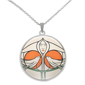 Picture of Mackintosh Dove Silver Plated Pendant