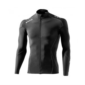 6365e7634 SKINS Mens Cycle Long Sleeve Jersey Black