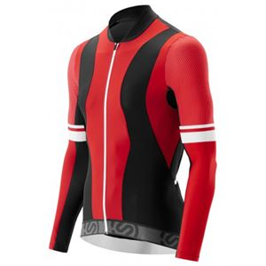 Picture of SKINS Mens Cycle Long Sleeve Jersey Red