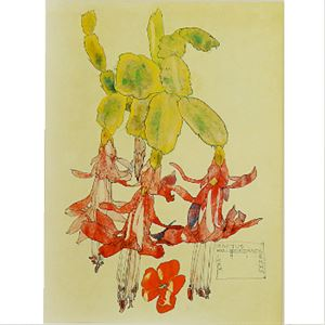 Picture of Mackintosh Study of Cactus Mounted Print