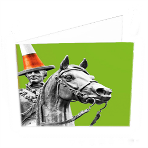 Picture of Colourful Duke Folded Card