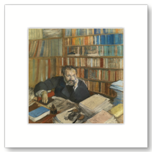 Picture of Portrait of Edmond Duranty Mounted Print