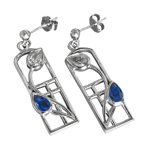 Picture of Mackintosh Saltire Earrings