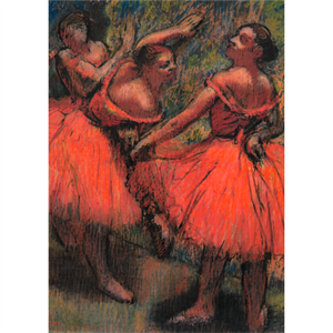 Picture of The Red Ballet Skirts Postcard