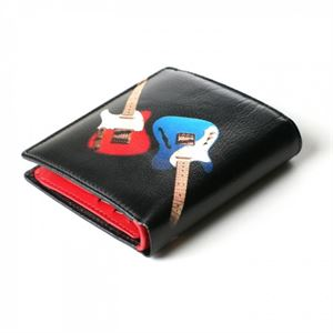 Picture of Guitar Leather Wallet with Coin Pouch