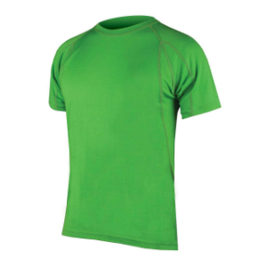 Picture of Endura Mens BaaBaa Shortsleeve Baselayer Green