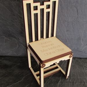 Picture of Charles Rennie Mackintosh Chinese Chair A5 Card