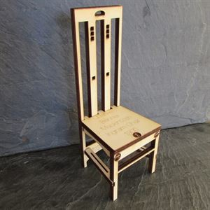 Picture of Charles Rennie Mackintosh Ingram Chair A5 Card