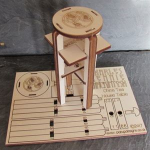 Picture of Charles Rennie Mackintosh Chinese Tea Table Card