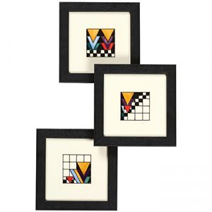 Picture of Moorcroft Derngate Trio of  Plaques