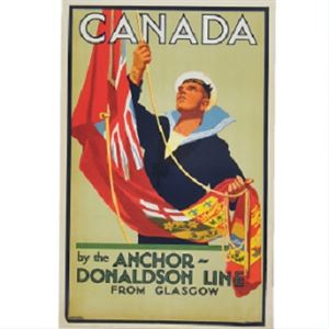 Picture of Anchor Line Canada Mounted Print