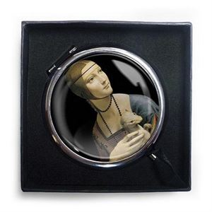 Picture of Woman Ermine Compact Mirror